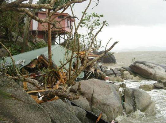 Yasi - Damage to an island off the Queensland Coast
